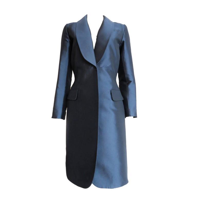 louis vuitton silk satin evening coat with dress