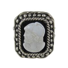 Stephen Dweck Sterling Silver Intaglio ring 1992 Never Worn