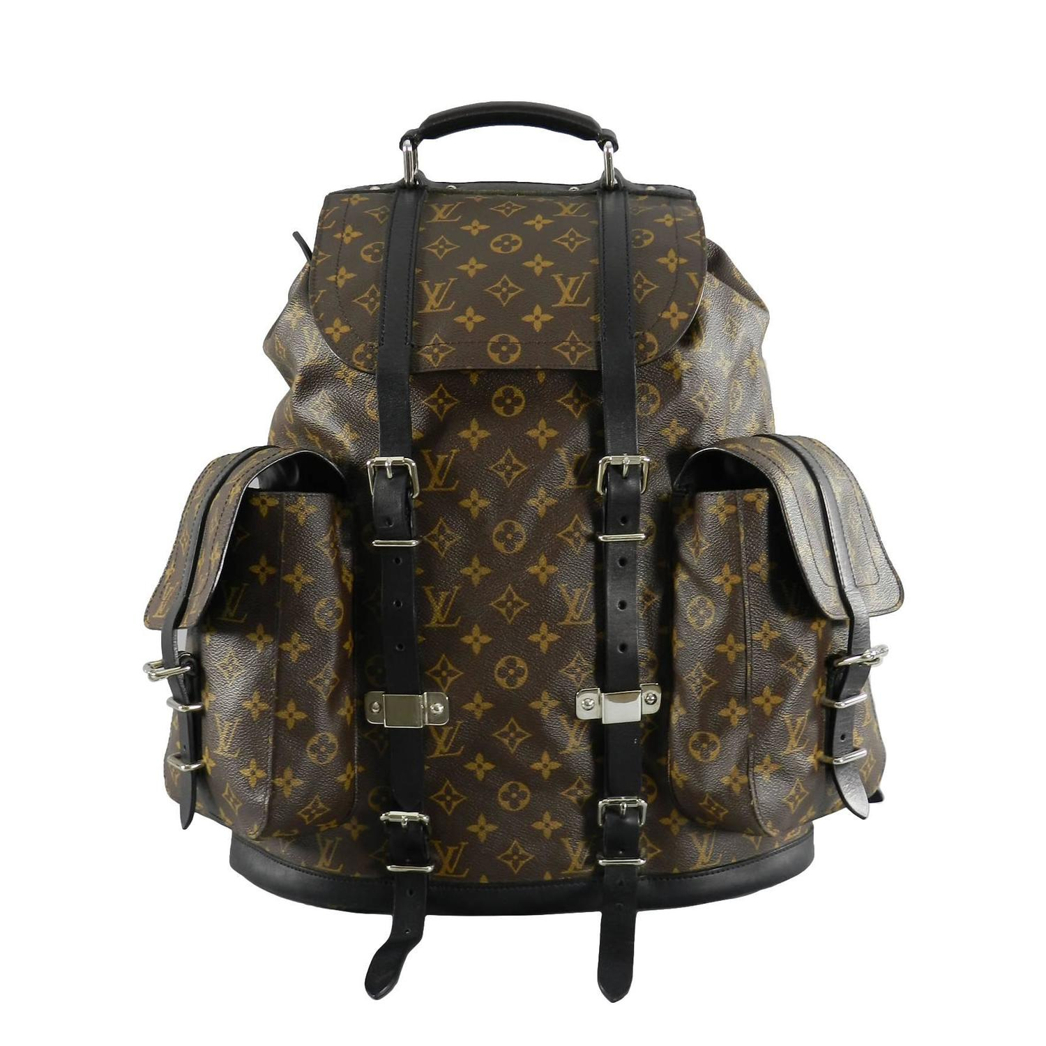 louis vuitton monogram christopher backpack at 1stdibs. Black Bedroom Furniture Sets. Home Design Ideas