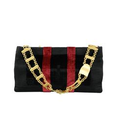 Roberta di Camerino Limited Edition Cut Velvet and Gold Evening Bag