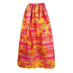 Oscar de la Renta Box Pleated Ball Gown Skirt