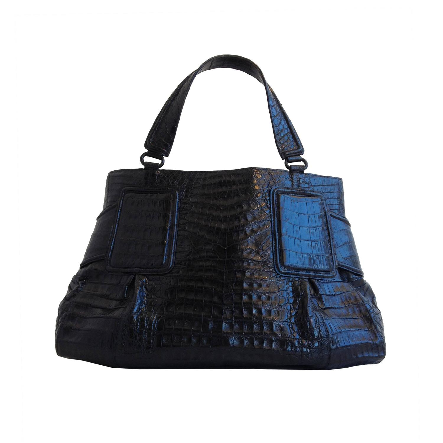 Nancy gonzalez black crocodile tote bag at 1stdibs for Nancy gonzalez crocodile tote