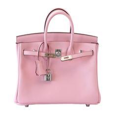 HERMES BIRKIN bag 25 Rose Sakura pink palladium hardware - a Jewel