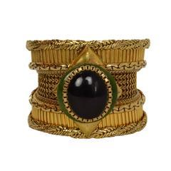 Wendy Gell Vintage '86 Textured Wide Gold Cuff Bracelet