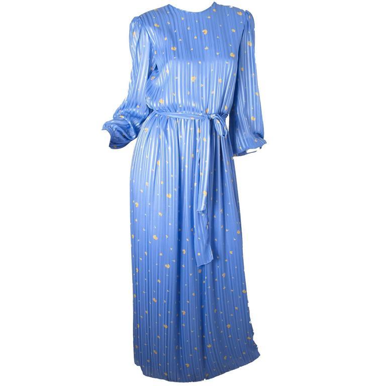 Hanae Mori Silk Floral Gown  1