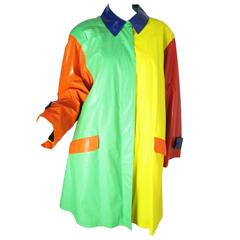 1970s Bill Blass Primary Colored Raincoat - sale