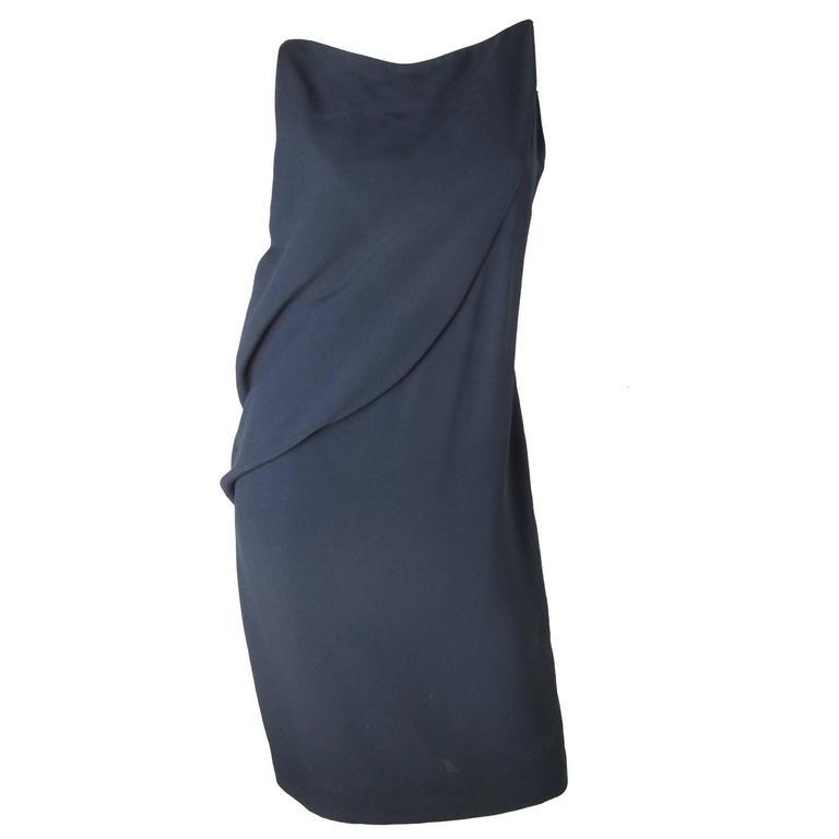 """Balenciaga """"Le Dix"""" Navy Dress  For Sale"""