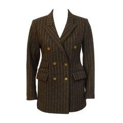 1980's Vivienne Westwood Brown Wool Blazer