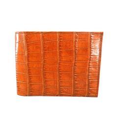 MOORE & GILES Brand New Tan Alligator Skin Men's Wallet
