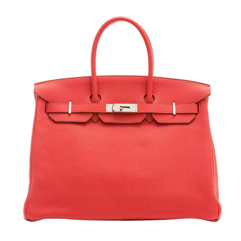 Hermes Rose Jaipur Birkin Bag 35cm For Sale