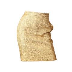 Yves Saint Laurent Gold Lamé Skirt