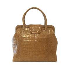 Nancy Gonzalez Crocodile Large Double Handle Bag