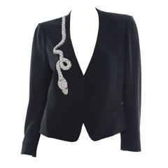 Sonia Rykiel Black Blazer With Diamanté Snake, Autumn - Winter 2001