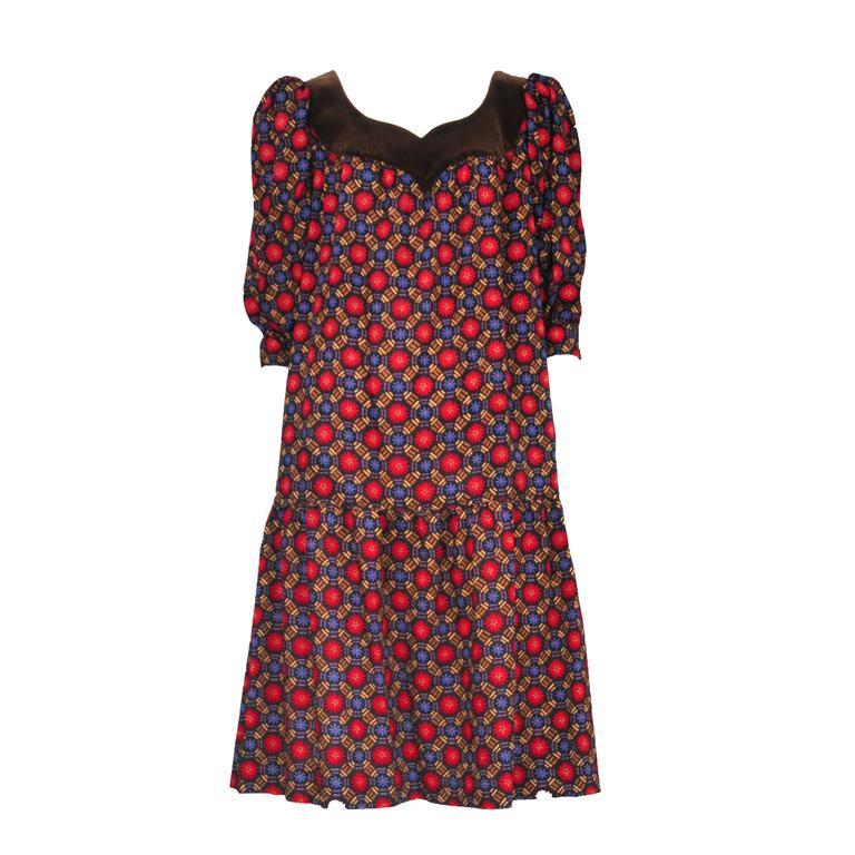 Yves Saint Laurent Geo Print Dress  1