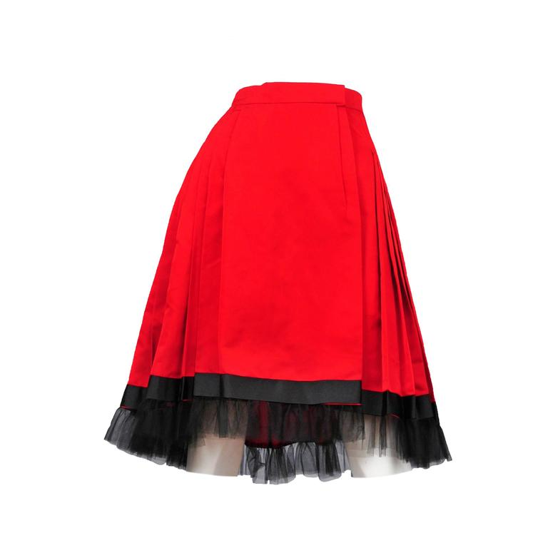 Yves Saint Laurent Taffeta and Tulle Skirt