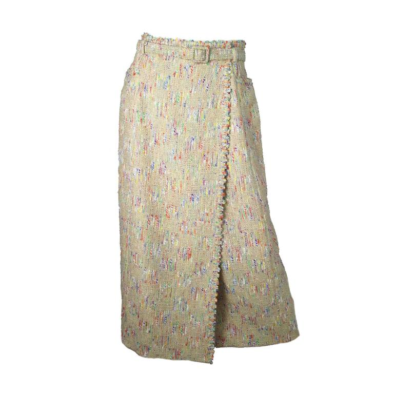 Chanel Fantasy tweed wrap skirt  1
