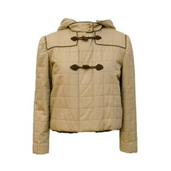 1980s Valentino Tan Cropped Duffle Jacket