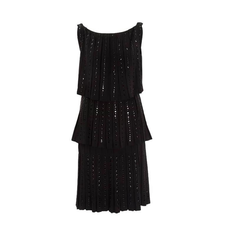Hartnell Haute Couture Beaded Cocktail Dress, Circa 1960 For Sale