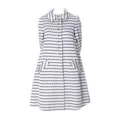 1960s Sara Fredericks Rare Vintage Dress Coat Suit Ensemble Rhinestone Buttons