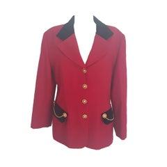 1990s Luisa Spagnoli red wool jacket