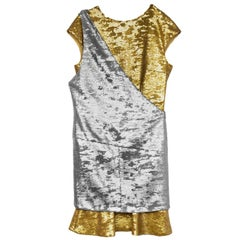 Chanel Gold & Silver Sequin 2-Piece Dress sz FR40