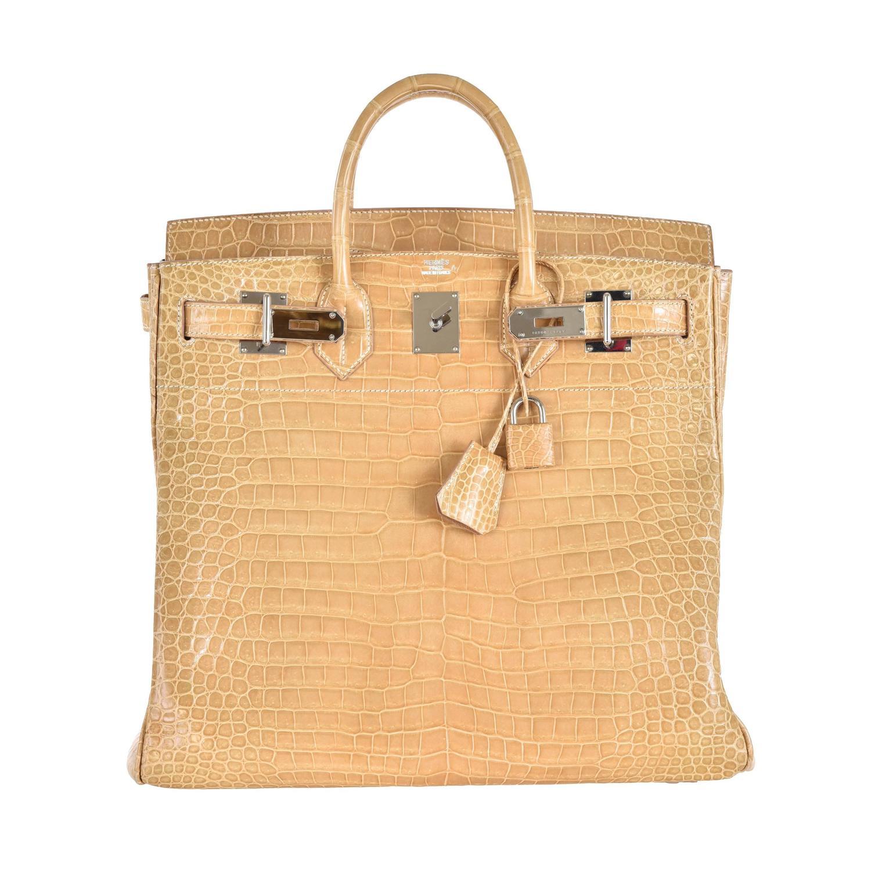 hermes birkin bag 40cm black matte crocodile porosus gold hardware janefinds