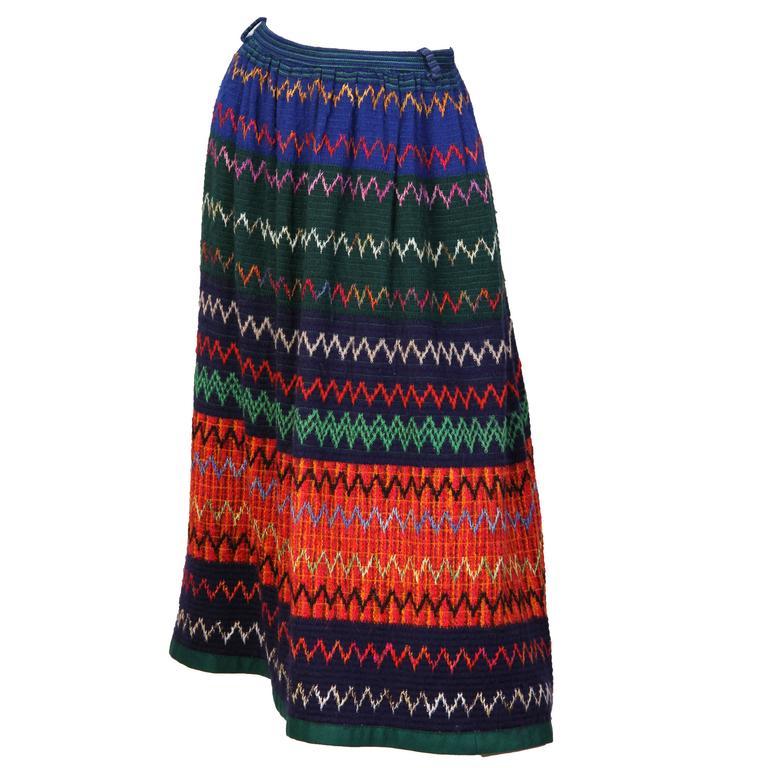 1970s Lanvin Boho Skirt 1