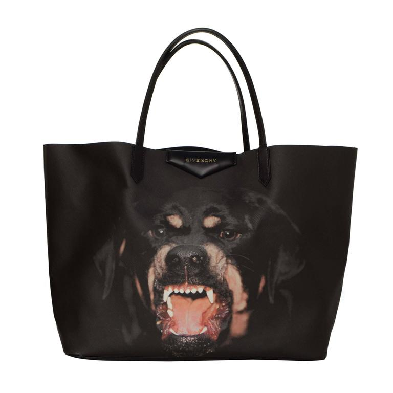 Givenchy Black Sold Out Rottweiler Large Antigona Tote Bag For