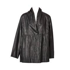 Shamask Crinkled Leather Jacket