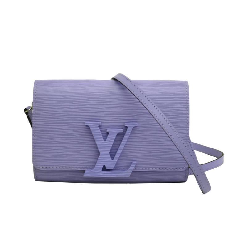 Louis Vuitton Louise Epi Leather Lavender Logo Clutch Crossbody Shoulder Bag 1
