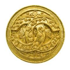 1994 Chanel Gold Circle CC Pin