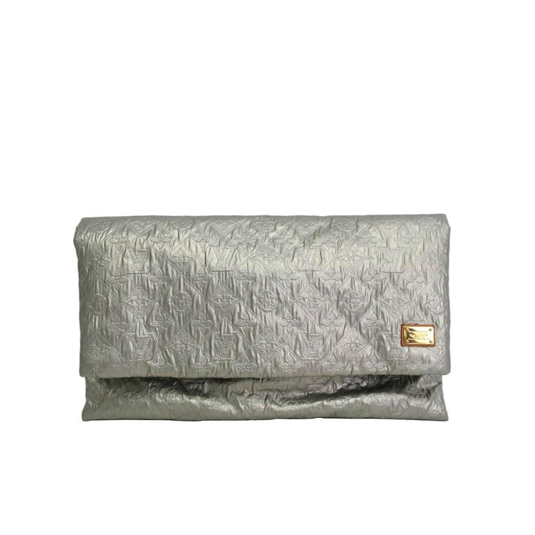 c5b70e9239c5 Louis Vuitton Limelight Oversized Monogram Silver Foldover Envelope Clutch  Ba For Sale