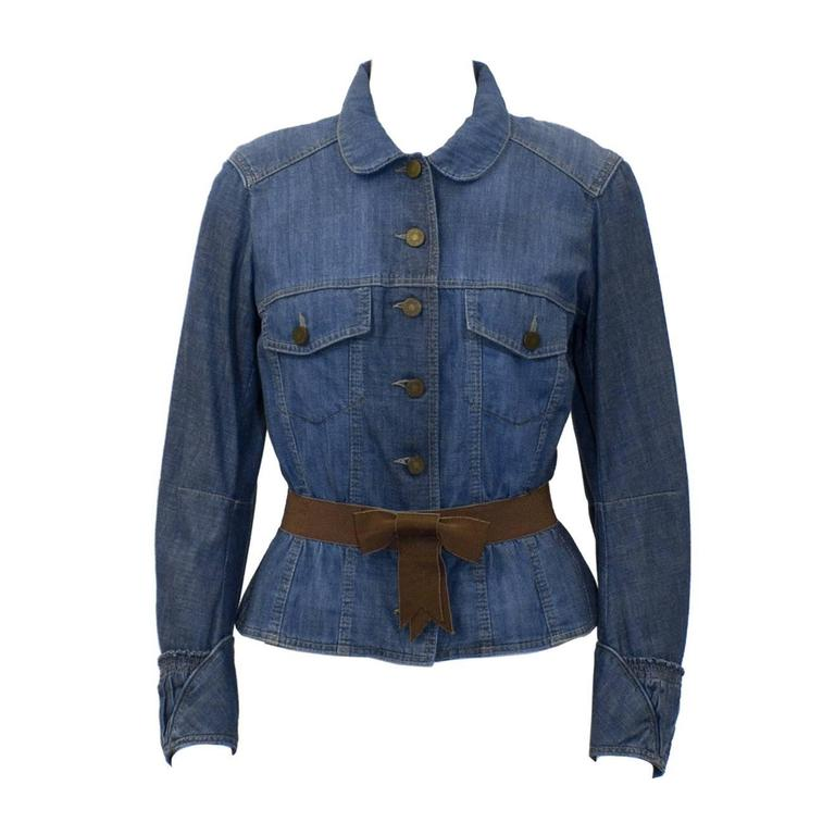 2000's Alexander Mcqueen Denim Jacket For Sale