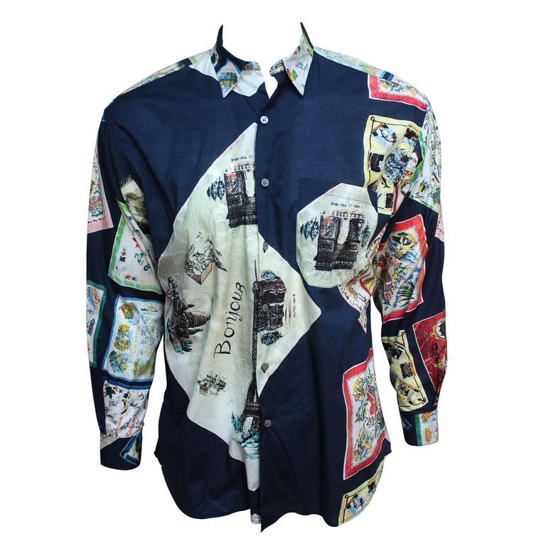 Paul Smith Shirt with Vibrant Souvenir Scarf Print 1