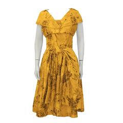 1950's Suzy Perette Marigold Dress