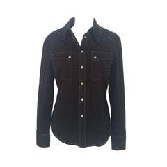 1990s Claude Montana black shirt