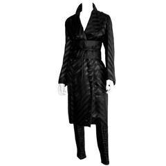 Free Shipping: Iconic Tom Ford Gucci FW 2002 Black Silk Kimono Coat & Obi Belt!