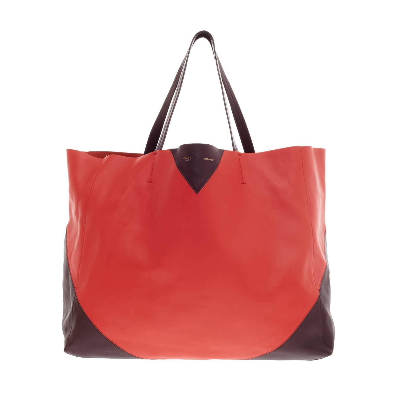 Celine Horizontal Cabas Tote Leather Large For Sale at 1stdibs
