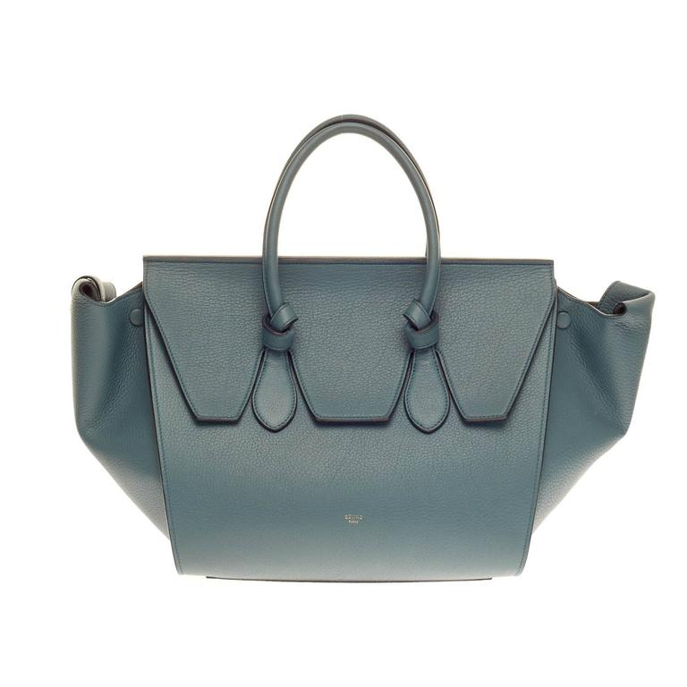 Celine Tie Knot Tote Grainy Leather Large For Sale