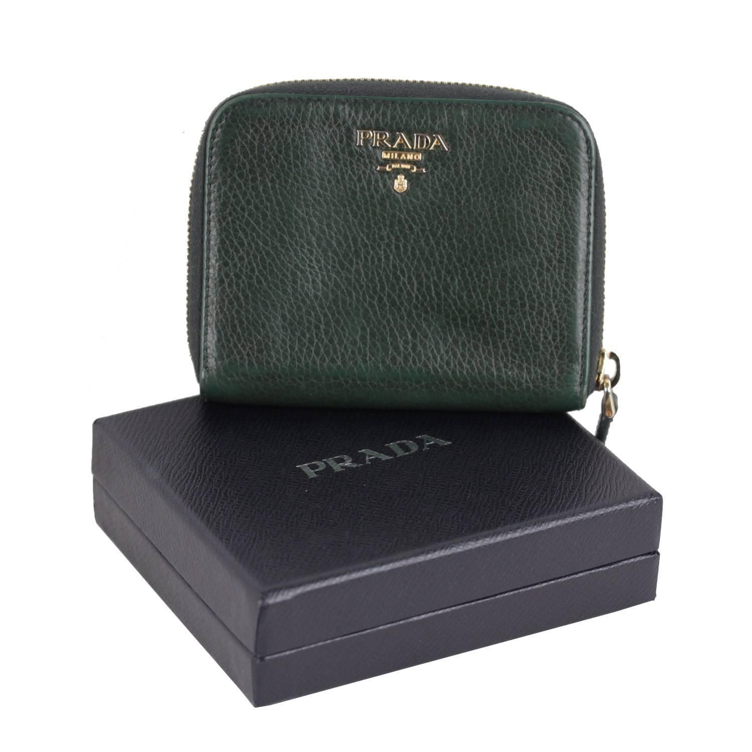 PRADA Black Leather SAFFIANO FIOCCO Ribbon STRAP WALLET Purse WOC ...