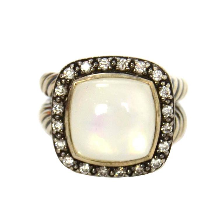 3666c9101075d David Yurman Moonstone Diamond Sterling silver Albion Ring