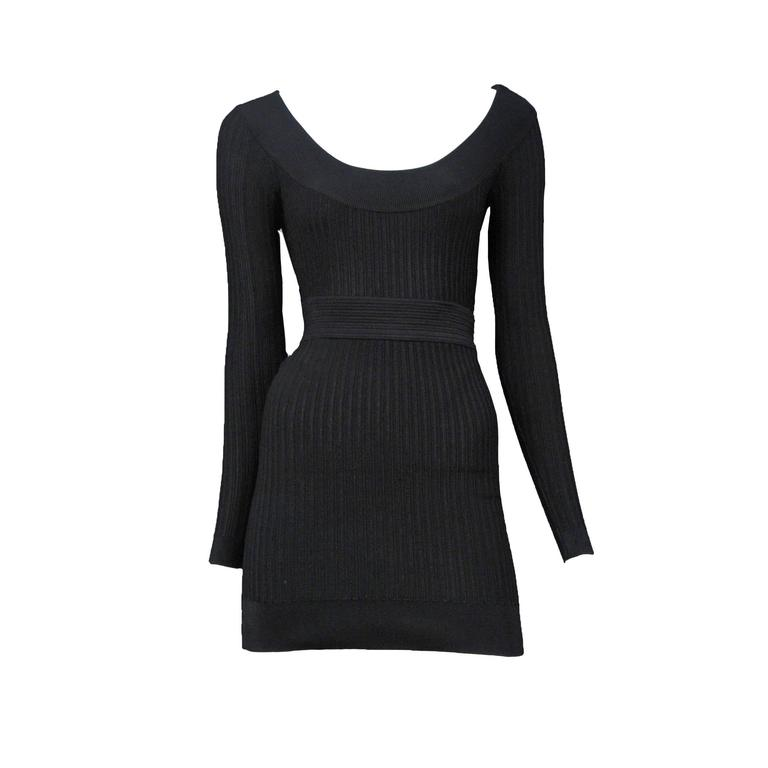 Alaia Black Bodysuit and Skirt  1
