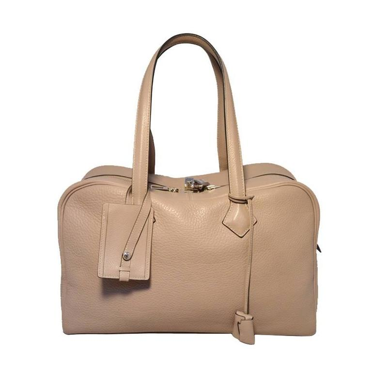 49099582ec ... ireland hermes taupe clemence leather victoria ii 35cm travel tote bag  for sale b2f7f b2ddd ...