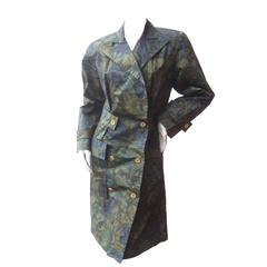 Balenciaga Paris Polished Cotton Floral Trench Coat Size 40