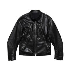 Martin Margiela Mens Five Zip Leather Jacket