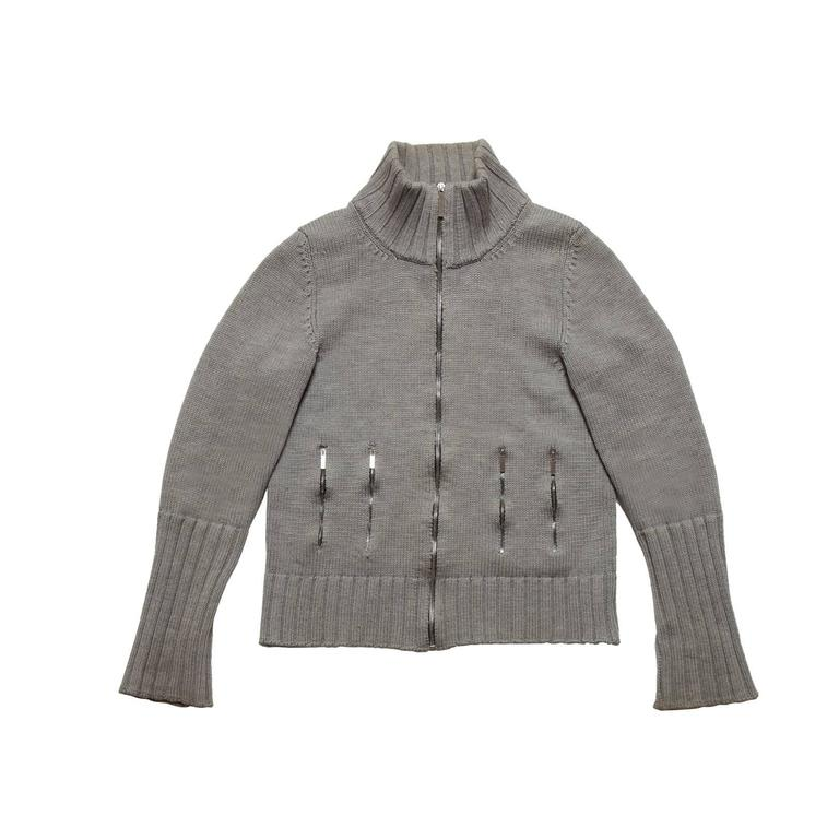 Dior Homme Double Zip Knit Cardigan Hedi Slimane AW 2002