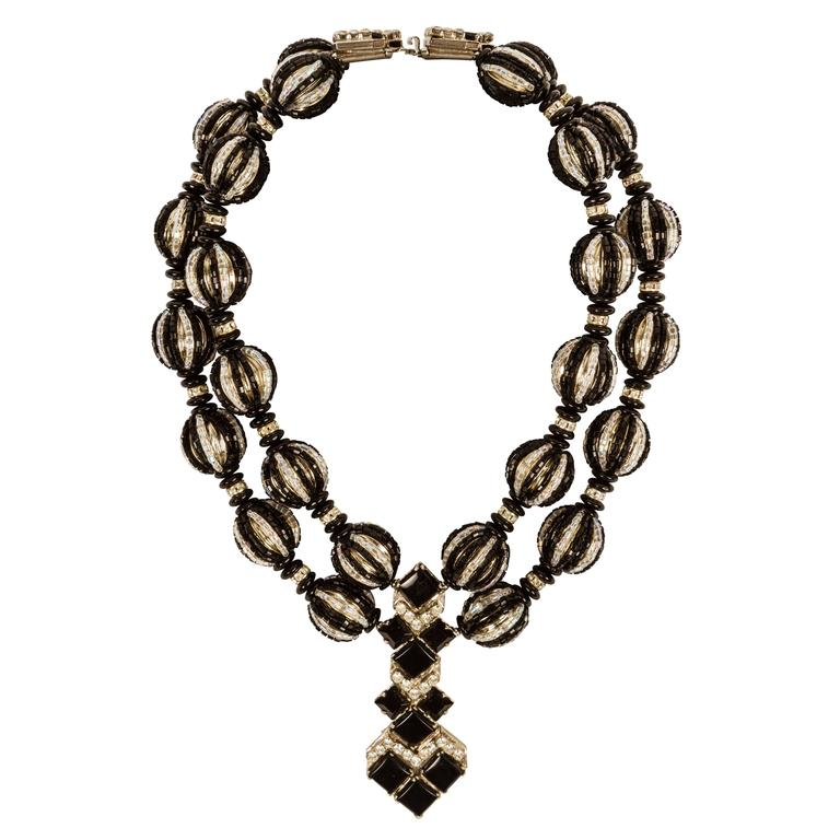 An Art Deco Inspired Necklace by William DeLillo For Sale