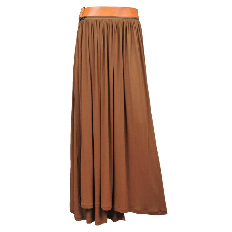 Gaultier Leather Belt Maxi Dress  For Sale