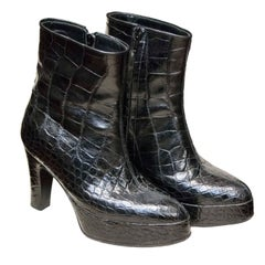 Alligator Platform Boots