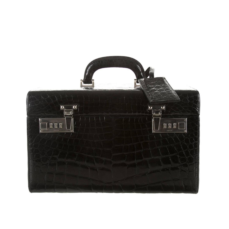 prada handbag with silver hardware
